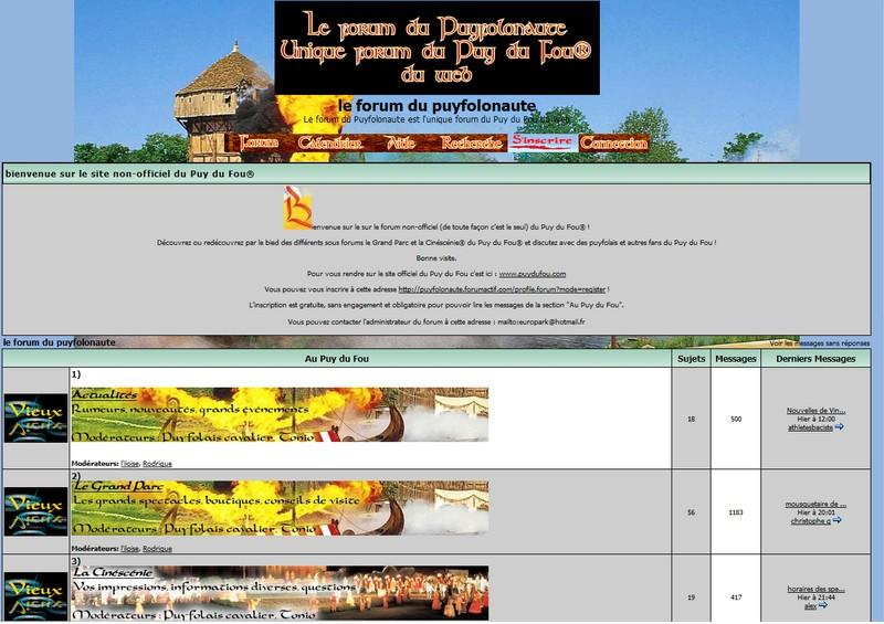 Le forum du Puyfolonaute en 2006